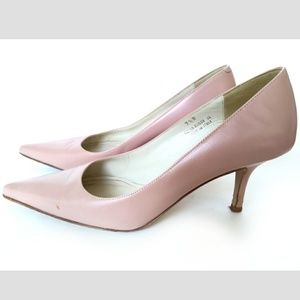 Coach Alison Sz 7.5 Nude Pink Heels Pointed Toe